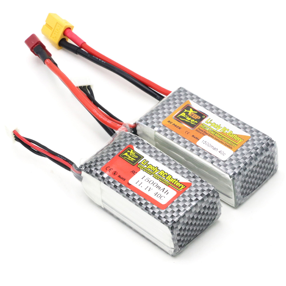 5pcs/lot ZOP Power <font><b>LiPo</b></font> Battery 11.1V <font><b>1500Mah</b></font> <font><b>3S</b></font> 40C Max <font><b>60C</b></font> XT60 Plug T Plug For RC Quadcopter Drone Helicopter Car Airplane image