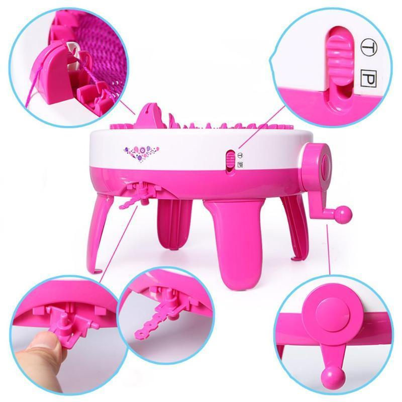 Baby 22 Needle Brake Machine Weaving Vel Knee Hat Positions Educational  Baby Toys Children Children Handcraft Tool Baby