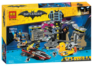Новинка 1087 шт Супер Герои кино Batcave Break-in Building Blocks70909 07052 игрушки для детей