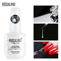 ROSALIND Top Coat Gel Nail Polish Diamond Transparent Soak Off UV Primer Gel Vernis 15ml Long Lasting Gel Lacquer Art Manicure