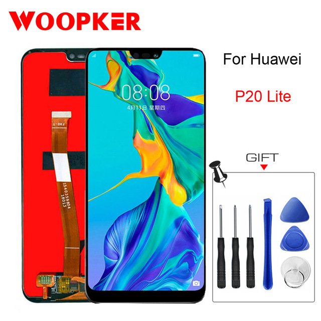 Original Lcd For Huawei P20 Lite Display Screen Touch Replace 5.84 inch P20 Lite lcds Phone Parts