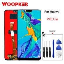 Oryginalny ekran Lcd do Huawei P20 Lite ekran dotykowy wymień 5.84 cala P20 Lite lcds części do telefonów