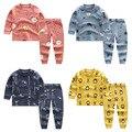 Комплект одежды для маленьких мальчиков, осень 2020, новый комплект одежды для малышей, хлопковая одежда с рисунком для маленьких мальчиков, к...