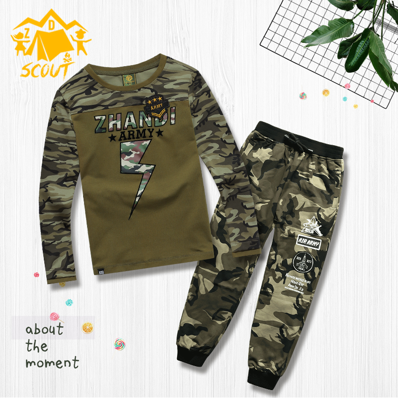 Children's clothing set new boys tide wear army fan children's pants long-sleeved sweater casual pants sweatpants