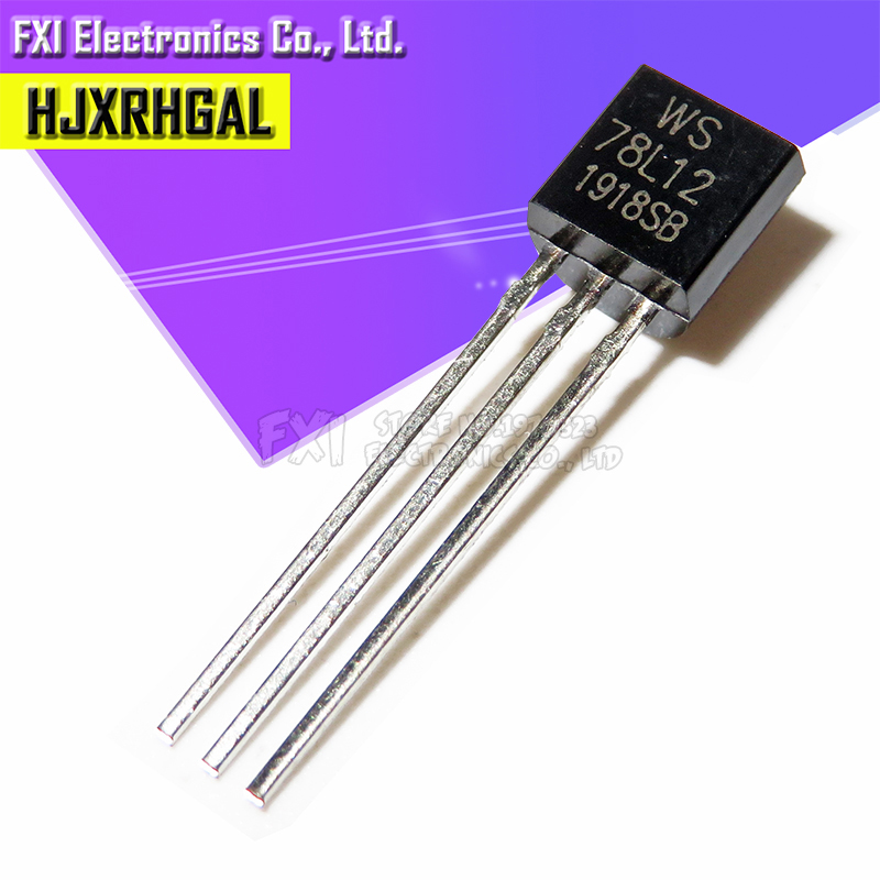50 adet 78L12 üç terminali voltaj regülatörü devresi 12V 100MA TO-92