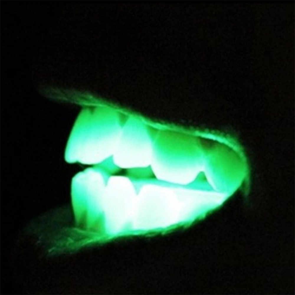 2019 Nuovo Divertente Della Novità Giocattoli LED Lampeggiante Light Up Bocca Bretelle Piece Glow Denti Per La Festa di Halloween Rave Giocattoli Divertenti #928