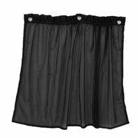 70x50cm janela lateral do carro cortina dobrada malha sun sombra proteção uv preto filme de janela com 4 * ventosa