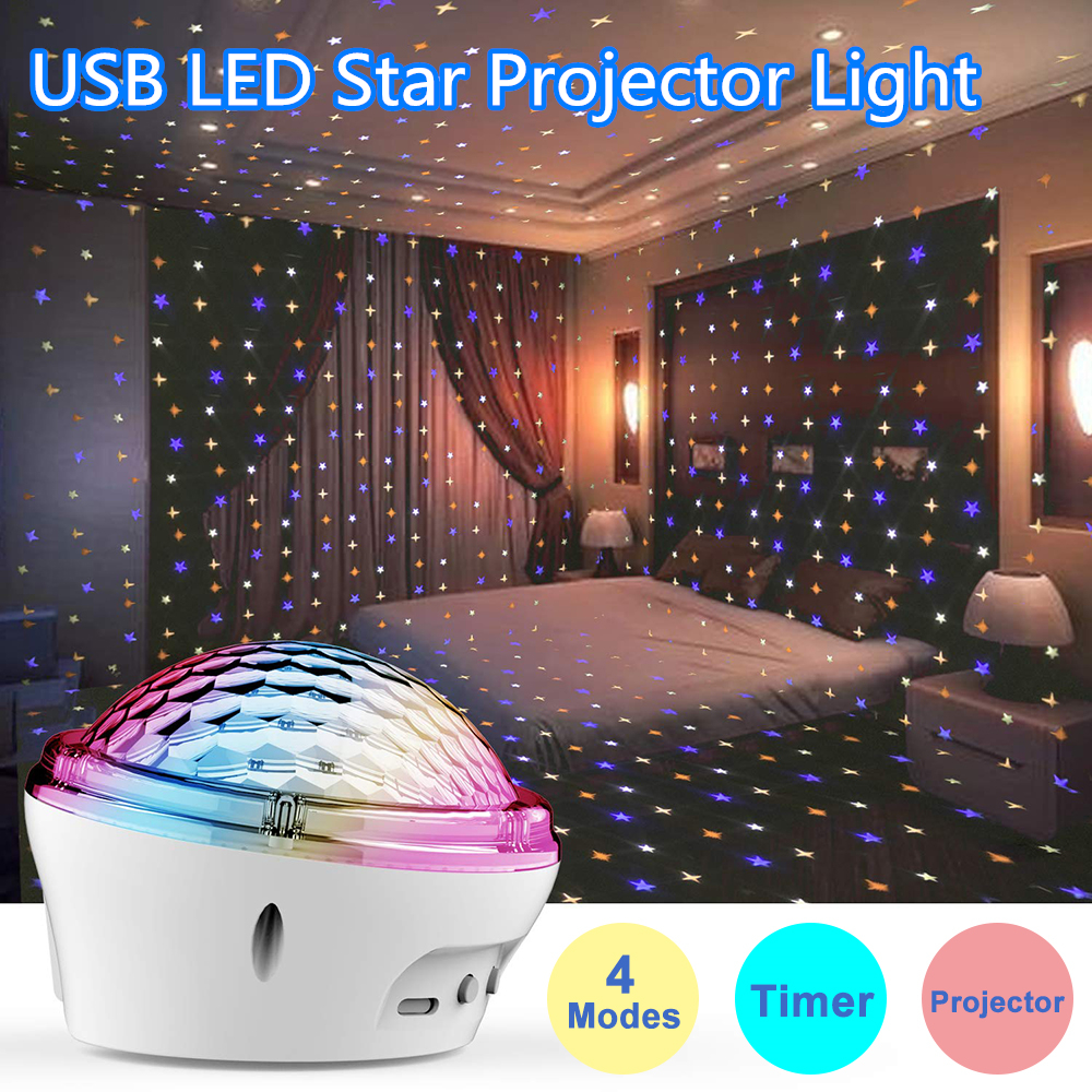 Birthday Party Led Star Projector Light 2020 New Led Star Lamp Kids Gifts Night Lights Bedroom Decor Powered By Usb Charger D30 Led Night Lights Aliexpress