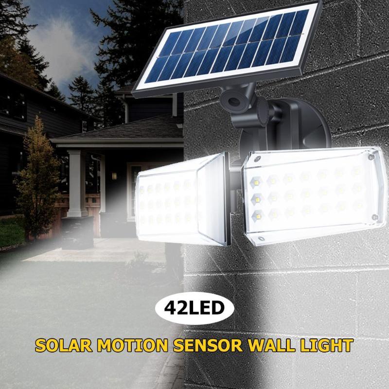80 42 led solar luz ao ar livre lampada pir sensor de movimento luz de parede