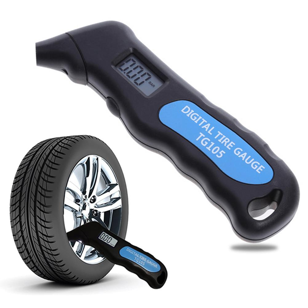 Digital Car Tire Tyre Air Pressure Gauge Meter LCD Display Manometer Barometers Tester For Car Truck Motorcycle Bike TG105
