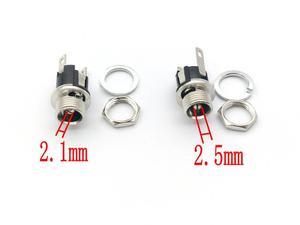 Image 1 - 100 sztuk 5.5mm x 2.1/2.5mm DC Power gniazdo typu Jack kobiet mocowanie panelu złącza