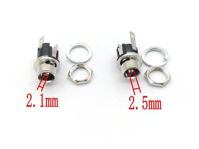 100 sztuk 5.5mm x 2.1/2.5mm DC Power gniazdo typu Jack kobiet mocowanie panelu złącza