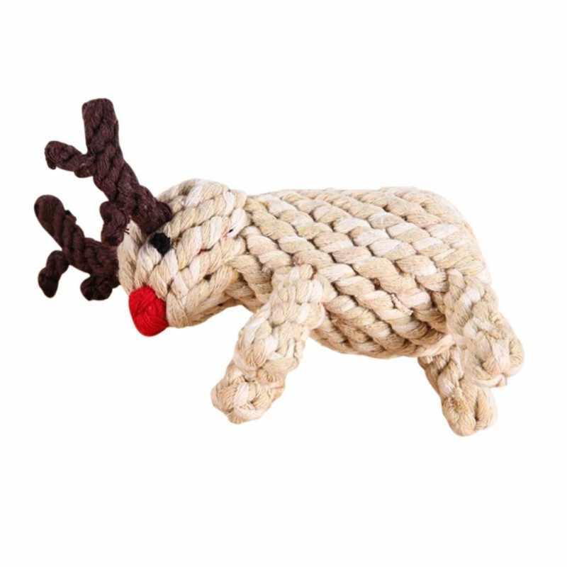 Sika Deer เชือก Cat Chew ของเล่นสำหรับสุนัข Interactive Molar อุปกรณ์สำหรับทำความสะอาดฟันสุนัข Molar สัตว์เลี้ยงอุปกรณ์