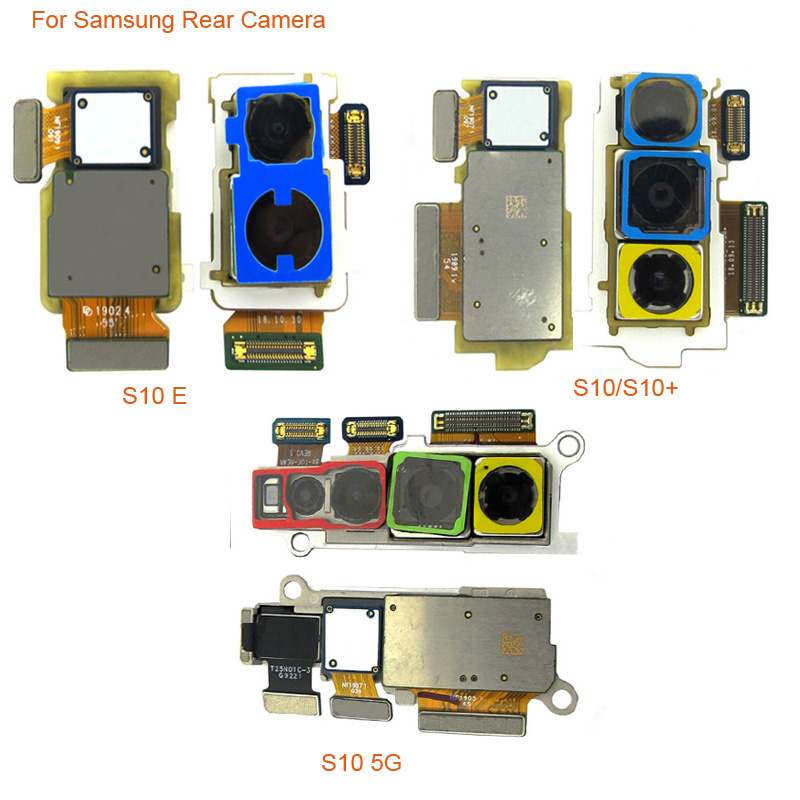 Back Rear Camera Module Flex Cable For Samsung S10 G973F G973U S10+ G975F G975U S10e G970F S10 5G G977 Big Back Camera