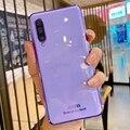 Роскошный зеркальный чехол с покрытием для телефона Samsung Galaxy A02 A50 A70 A7 2018 A30 A20 A01 A20s Galaxi A 50 70, мягкий силиконовый чехол-накладка