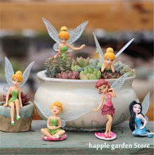 Miniaturas de jardim, 1 peça de flor pixie, miniaturas de jardim, decoração diy, artesanato, estatuetas, micro paisagem, dropshipping