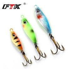 FTK Winter Ice Fishing Hook 3PCS/Lot 10#/8#/6#  4.5g 7.5g 9g Jig Bait For Fish