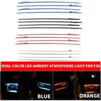 Car Interior Four 4 Doors Panel Decorative Trims Light Dual-Color Blue Orange Atmosphere Lights For BMW 3 Series F30 F35 2012-18