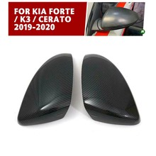 pcmos 2Pcs/set Rearview Side Door Mirrors Cover Trim For Kia Forte / K3 / Cerato 2019-2020 Interior Accessories ABS Stickers New(China)