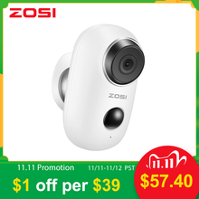 ZOSI WiFi Camera Rechargeable Battery Powered 1080P Full HD Outdoor Indoor  IP65 Weatherproof Security Wireless IP Camera