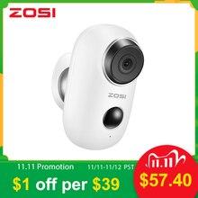 Zosi wifi câmera recarregável alimentado por bateria 1080p hd completo ao ar livre indoor ip65 à prova de intempéries câmera ip sem fio de segurança