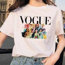 vogue princess 2020 T Shirt Women Summer White Short Sleeve Harajuku Aesthetic Clothes Cartoon 90s