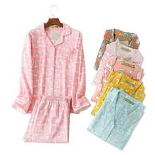 Artı boyutu sevimli karikatür pijama setleri kadın pijama % 100% fırçalanmış pamuk kış sıcak rahat uzun kollu rahat kadın pijama