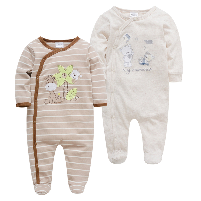 Kavkas 2 pcs/set Baby Rompers Spring Baby Boy Clothes New Born Boy Clothes Baby Girl Clothing Set Roupas Bebe Infant Jumpsuits