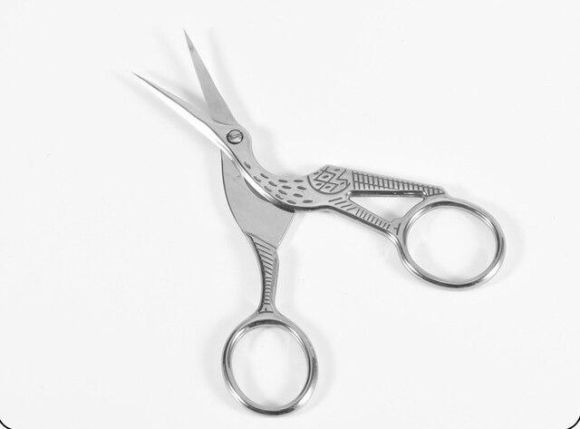 Student Scissors Paper Cutting Creative Crane Design Safe Art Office Stationery
