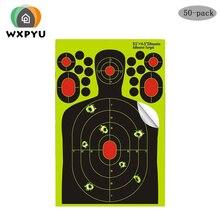 hunting Training Self Adhesive Gun Rifles targets paper Fluorescence Sticker Shooting gun Splatter burst Targets