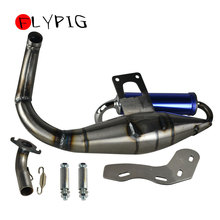 FLYPIG New Professional Stainless Steel Exhaust Muffer with Expansion Chamber and Removable Silencer for Honda Dio Elite SYM 50