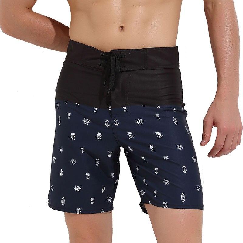 Calções de Banho Impressos dos Esportes do Beachwear da Secagem Rápida da Nadada dos Homens com Bolso
