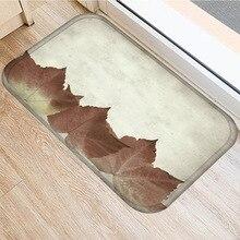 Leaf Flower Pattern Non slip Bedroom Decoration Soft Carpet Kitchen Floor Living Room Floor Mat Bathroom Non slip Mat 40x60cm  .