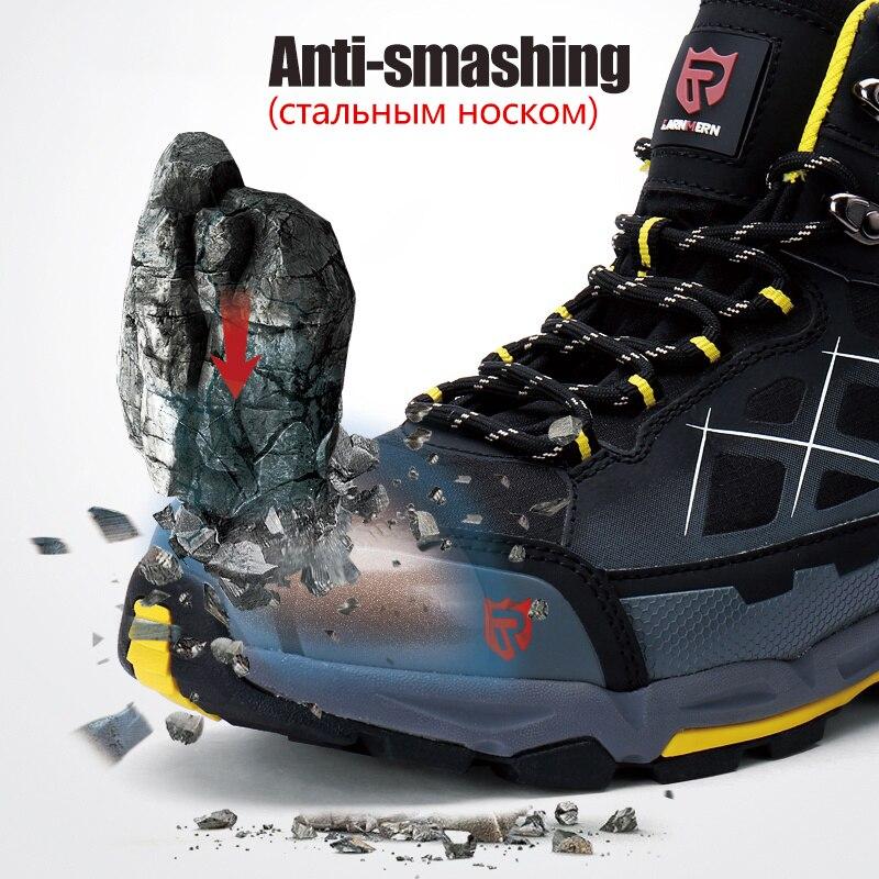 LARNMERN Мужская Рабочая защитная обувь со стальным носком легкая дышащая анти разбивающаяся анти прокол антистатические защитные сапоги - 2