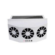3 охладитель воздуха вытяжной кондиционер охладитель солнечной энергии безопасный вентилятор Вентиляционное охлаждение Портативный Авто