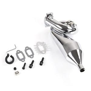 Хромовая резонансная трубка, настроенная труба, выхлопная труба, общая для 1/5 HPI Baja 5B Ss 5T 5Sc Rovan King Motor Rc, автомобильная выхлопная труба