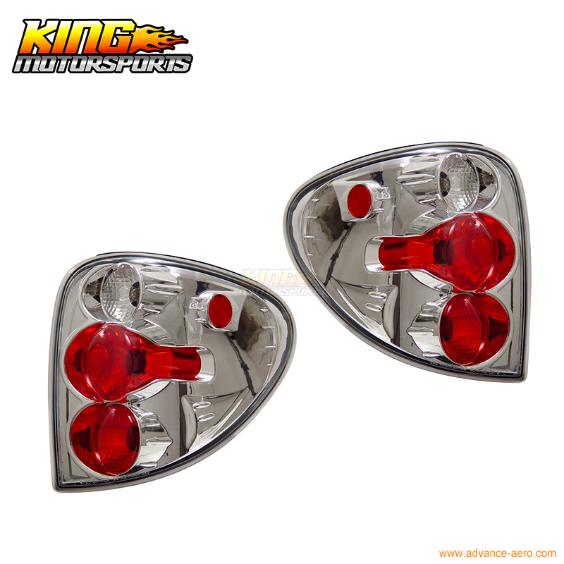 Fit For 01-03 Dodge Caravan Tail Lights Chrome Lamps Pairs USA Domestic Free Shipping