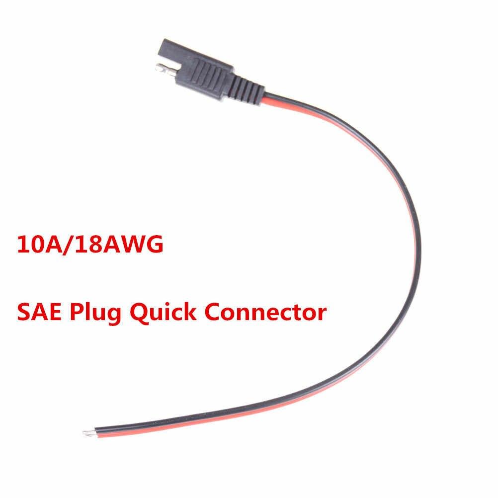 SAE wtyczka szybkie złącze 10A/18AWG przewód miedziany DIY kabel zasilający do samochodu Booster akumulator samochodowy urządzenie do awaryjnego uruchamiania Panel słoneczny 1pc