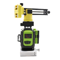 2Pcs Battery Fukuda Professional 16 Line 4D laser level 532NM Green Beam 360 Vertical And Horizontal Self leveling Cross for o