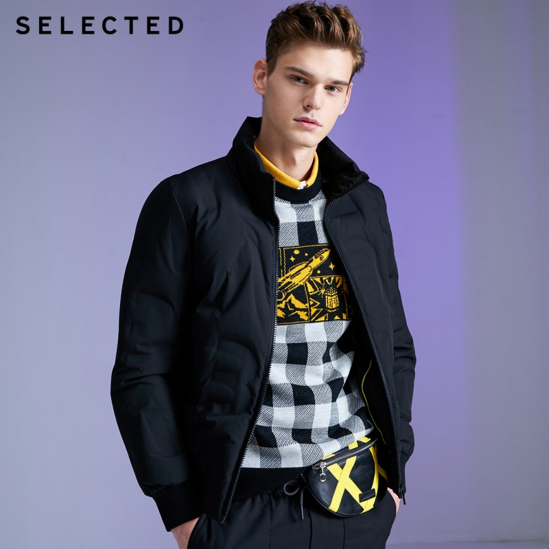 SELECTED Men's Stand-up Collar Short Parka Down Jacket Coat Autumn & Winter New Outwear L | 419412558