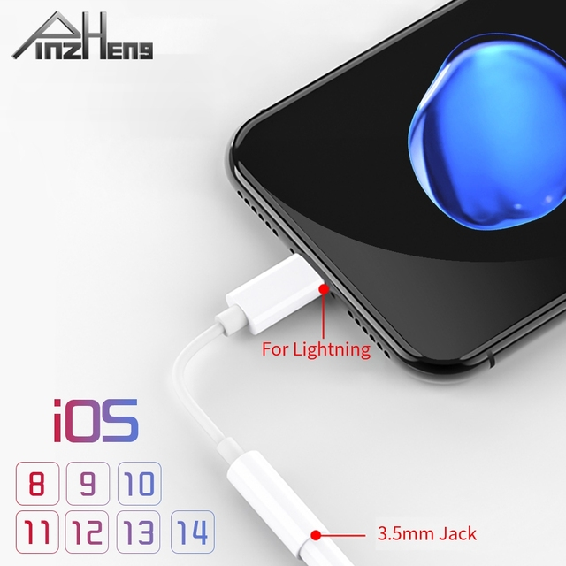 IOS 11 12 13 14 Headphone Adapter For iPhone 7 6 8 Plus 11 12 X Earphone AUX Adapter For Lightning To 3.5mm Female Male Adapter