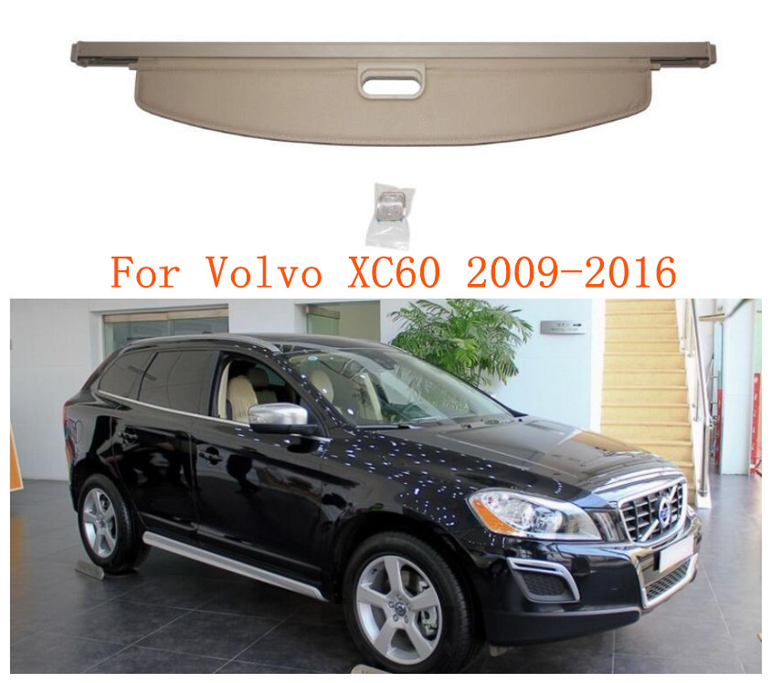 Car Rear Trunk Cargo Cover Security Shield For <font><b>Volvo</b></font> <font><b>XC60</b></font> 2009 2010 2011 <font><b>2012</b></font> 2013 2014 2015 2016 image