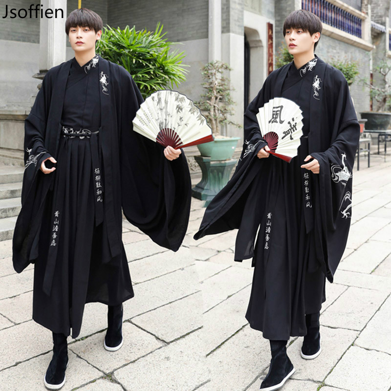 Large Size Women Traditional Hanfu Dress Man Han Dynasty Costume Couple Chinese Ancient Swordsman Clothing Male Kimono Tang Suit