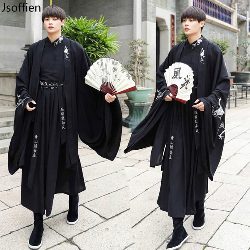 Large Size Women Traditional Hanfu Dress Man Han Dynasty Costume Couple Chinese Ancient Swordsman Clothing Male Kimono Tang Suit