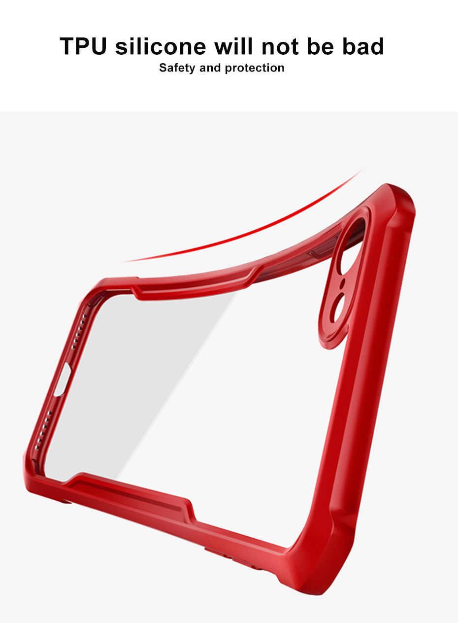 Luxo transparente caso do logotipo para o iphone 6 s 7 8 plus telefone com airbags silicone à prova de choque 360 capa protetora completa casos