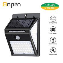 140 Leds Solar Light Power Wandlamp Outdoor Motion Sensor Wandlamp Solar Waterdichte Tuin Straat Security Zonlicht Verlichting(China)