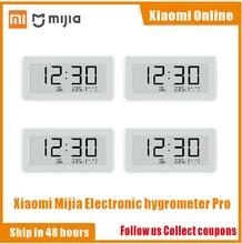 2020NEW Xiaomi Mijia BT4.0 kablosuz akıllı elektrik dijital saat kapalı higrometre termometre e mürekkep sıcaklık ölçme araçları