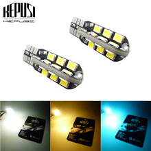 2x white blue T10 W5W 921 canbus Car Led Light 2835 Chip Clearance Number Backup Reverse Interior Lamp Bulb 12V car styling
