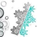 Снежинка рождественские металлические штампы для скрапбукинга трафареты штампованные для DIY альбома бумажные карты тиснение Diecut штампы из...