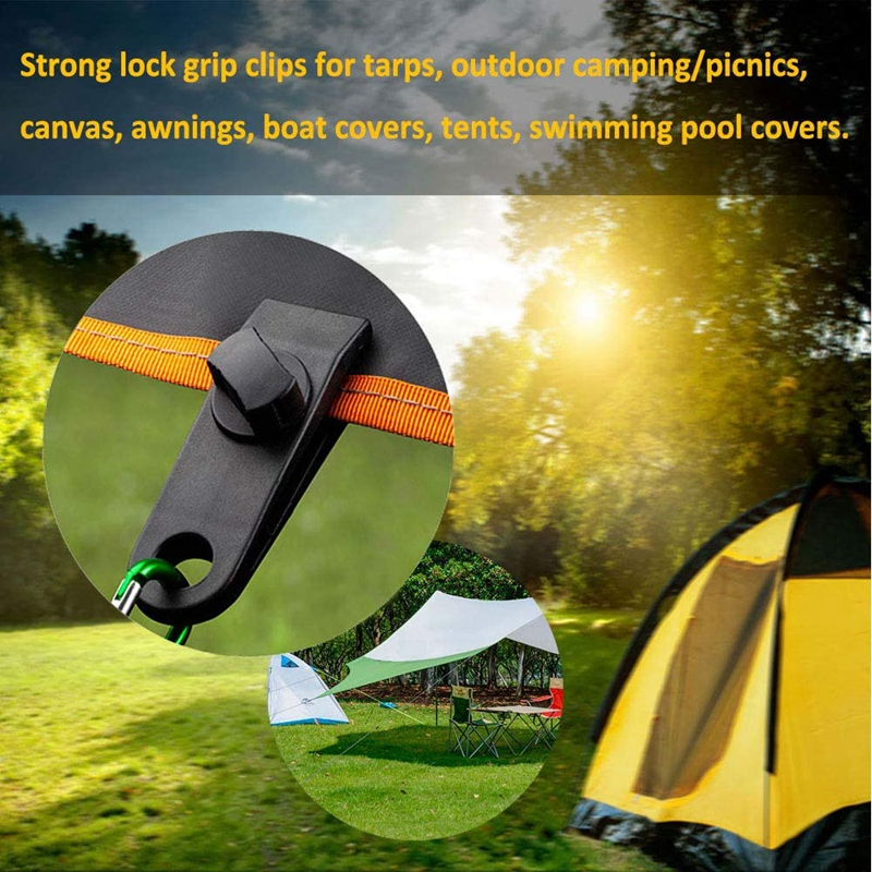 Tarp Tarp Clip and Bungee Ball Set of 5 Pool Cover Car Cover Boat Cover Heavy Duty Tarp Clips Lock Grip Awning Clamp Tarpaulin Bungees Cord for Banner Tents Pavilions